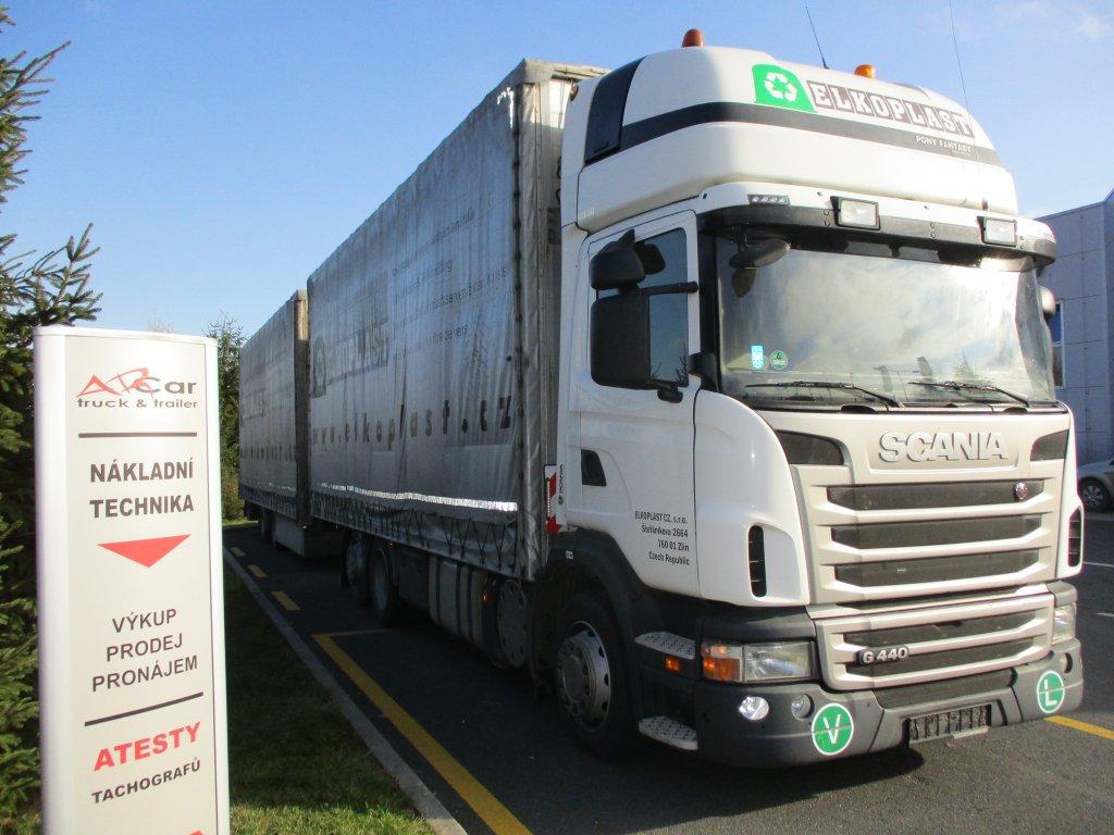 Scania  G 440 EEV retarder + přívěs Vako 2013